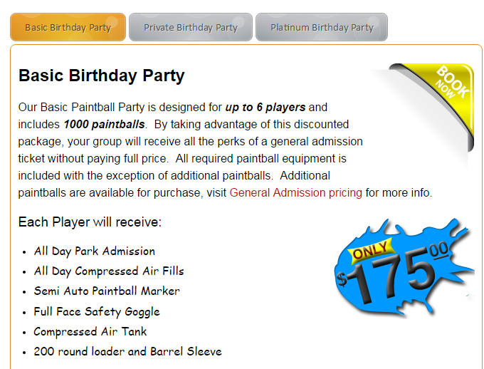 Paintball Party Packages for Birthdays